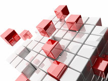 Abstract 3d illustration of cubes Royalty Free Stock Images