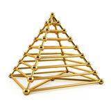 Abstract 3d Illustration Of Golden Pyramid Royalty Free Stock Image