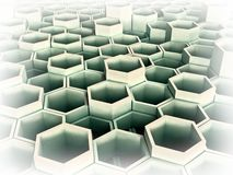 Abstract 3d image of hexagon Stock Photography