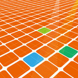 Abstract 3d infinite grid  Royalty Free Stock Image