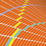 Abstract 3d infinite grid  for technology Royalty Free Stock Photo