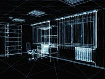 Abstract 3d interior Stock Photo