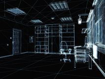 Abstract 3d interior Stock Photography