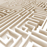 Abstract 3D labyrinth Royalty Free Stock Image