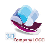 Abstract 3d logo. Abstract, three-dimensional logo/website element with reflections isolated over white Royalty Free Stock Images