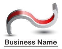 Abstract 3d logo. Or icon Royalty Free Stock Photos