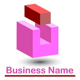 Abstract 3d logo. Or icon stock illustration