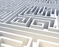 Abstract 3D Maze Royalty Free Stock Image
