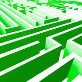 Abstract 3D Maze Stock Images