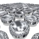 Abstract 3d Metallic Disks Royalty Free Stock Photo