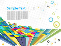 Abstract 3d mosaic background. Abstract 3d mosaic vector composition with retro sample text background stock illustration