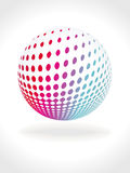 Abstract 3d multicolor ball. A abstract 3d multicolor ball vector illustration