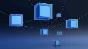 Abstract 3d netwerk Royalty-vrije Stock Afbeeldingen