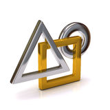 Abstract 3D object Stock Photo