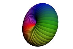 Abstract 3d object. Abstract 3d coloruful roundish object Stock Illustration