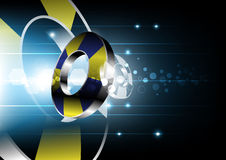 Abstract 3d Object And Technology Background Stock Photo