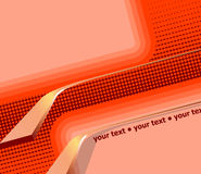 Abstract 3D Orange Background. Vector Illustration vector illustration