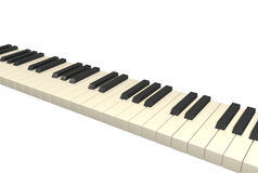 Abstract 3d piano. Object over white Stock Photos