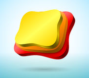Abstract 3d plates Royalty Free Stock Image