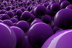 Abstract 3d purple spheres Stock Photography