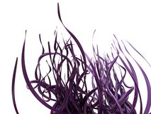 Abstract 3D Purple Vines. An abstract image of shiny and reflective purple vines/flourishes isolated on a white background Royalty Free Stock Images