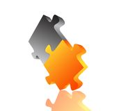 Abstract 3D puzzle design element . Vector Royalty Free Stock Images