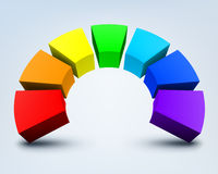 Abstract 3d rainbow Royalty Free Stock Images