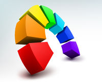 Abstract 3d rainbow Royalty Free Stock Photo
