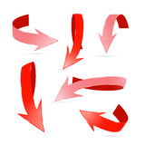 Abstract 3d Red Arrows Set Stock Image