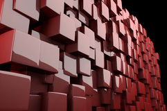 Abstract 3d Red Cubes Stock Images
