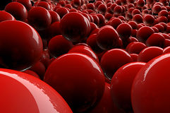 Abstract 3d red spheres Royalty Free Stock Image
