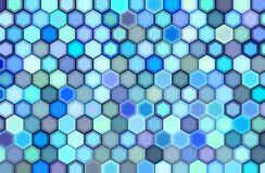 Abstract 3d render backdrop in blue purple. Abstract 3d render hexagon backdrop in blue purple colors Vector Illustration