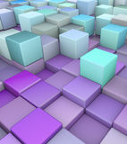 Abstract 3d render backdrop in purple blue. Abstract 3d render backdrop in different shades of purple blue Royalty Free Stock Photo