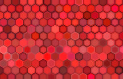 Abstract 3d render backdrop in red. Abstract 3d render hexagon backdrop in red colors Royalty Free Illustration