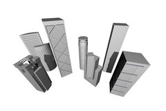 Abstract 3D Render Of Modern Skyscrapers Stock Image