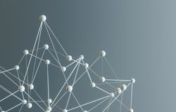 Abstract 3d rendering of chaotic structure Royalty Free Stock Photography