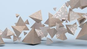 Abstract 3D Rendering of Geometric Shapes Royalty Free Stock Images
