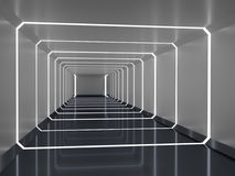 Abstract 3d Rendering Of Spaceship Corridor Royalty Free Stock Photography