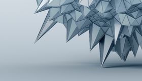 Abstract 3D Rendering of the Polygonal Surface Royalty Free Stock Photos