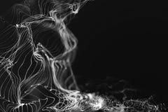Abstract 3d rendering technology plexus white dynamic digital su Stock Photos