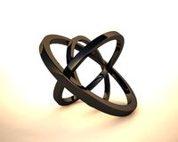 Abstract 3D rings. 3D circles,3D rings,  Cinema 4D render by me Royalty Free Stock Images
