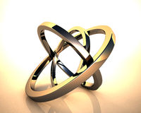 Abstract 3D rings Stock Images