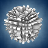 Abstract 3d shape royalty free illustration