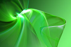 Abstract 3D shape. Abstract green 3D shape illustration Stock Photography