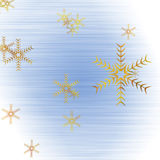 Abstract 3D Snowflakes Design. For adv or others purpose use Royalty Free Illustration
