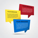 Abstract 3D speech bubble background. Eps10 Royalty Free Stock Photos