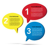 Abstract 3D speech bubble background . Abstract 3D speech bubble background.eps10 Royalty Free Stock Photos
