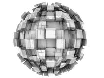 Abstract 3d Sphere. An abstract 3d sphere with cubes growing out of it Stock Photos