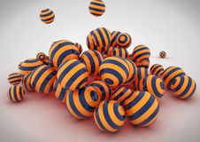 Abstract 3D spheres. Nice render of three dimensional spheres stock illustration