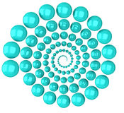 Abstract 3d spiral. Made of blue balls Vector Illustration